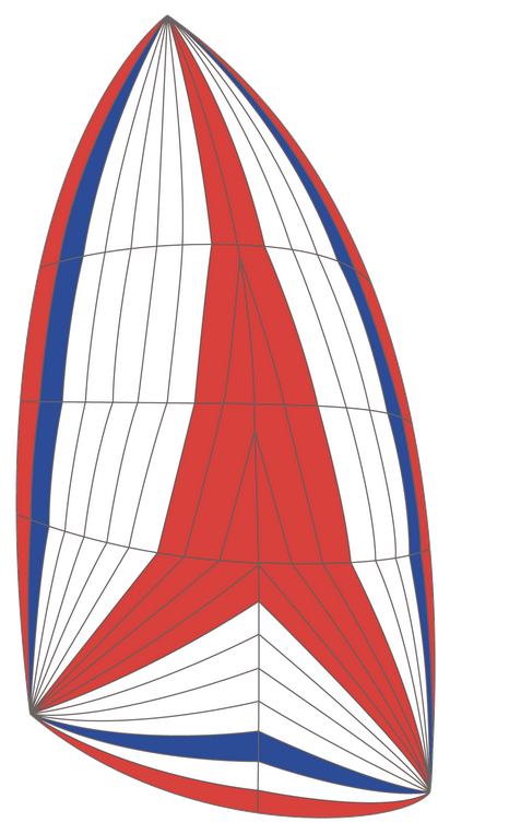 spinnaker asimmetrico - tricolore