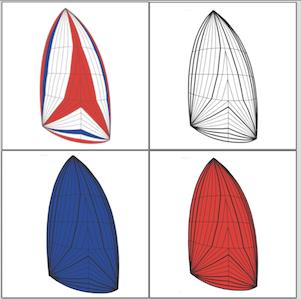 spinnaker simmetrico 4 colori icon