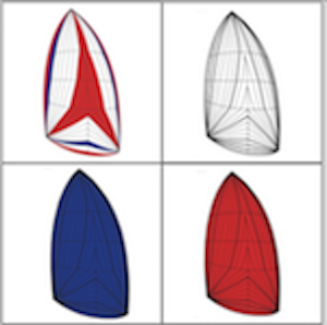 spinnaker asimmetrico - colori standard